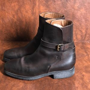 Tod's Shoes - TOD'S Brown Leather Ankle Boots